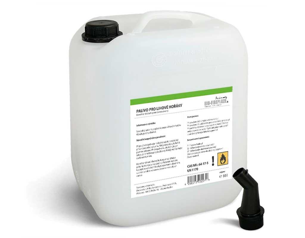 10 л органический Алкоголь (Био-этанол, био-алкоголь, Биогель, технический денатурированный спирт)