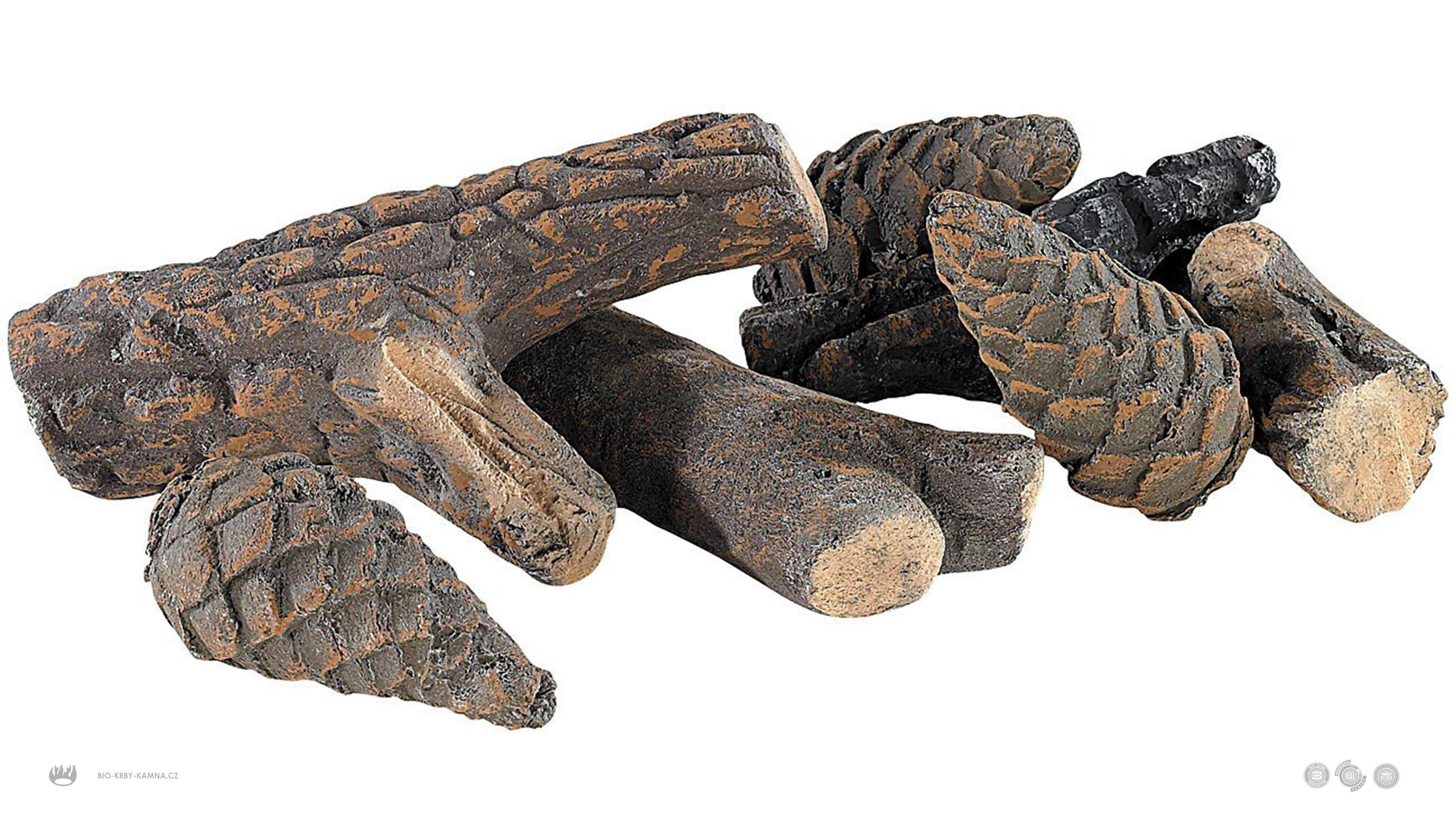 Keramické smrkové dřevo a šišky