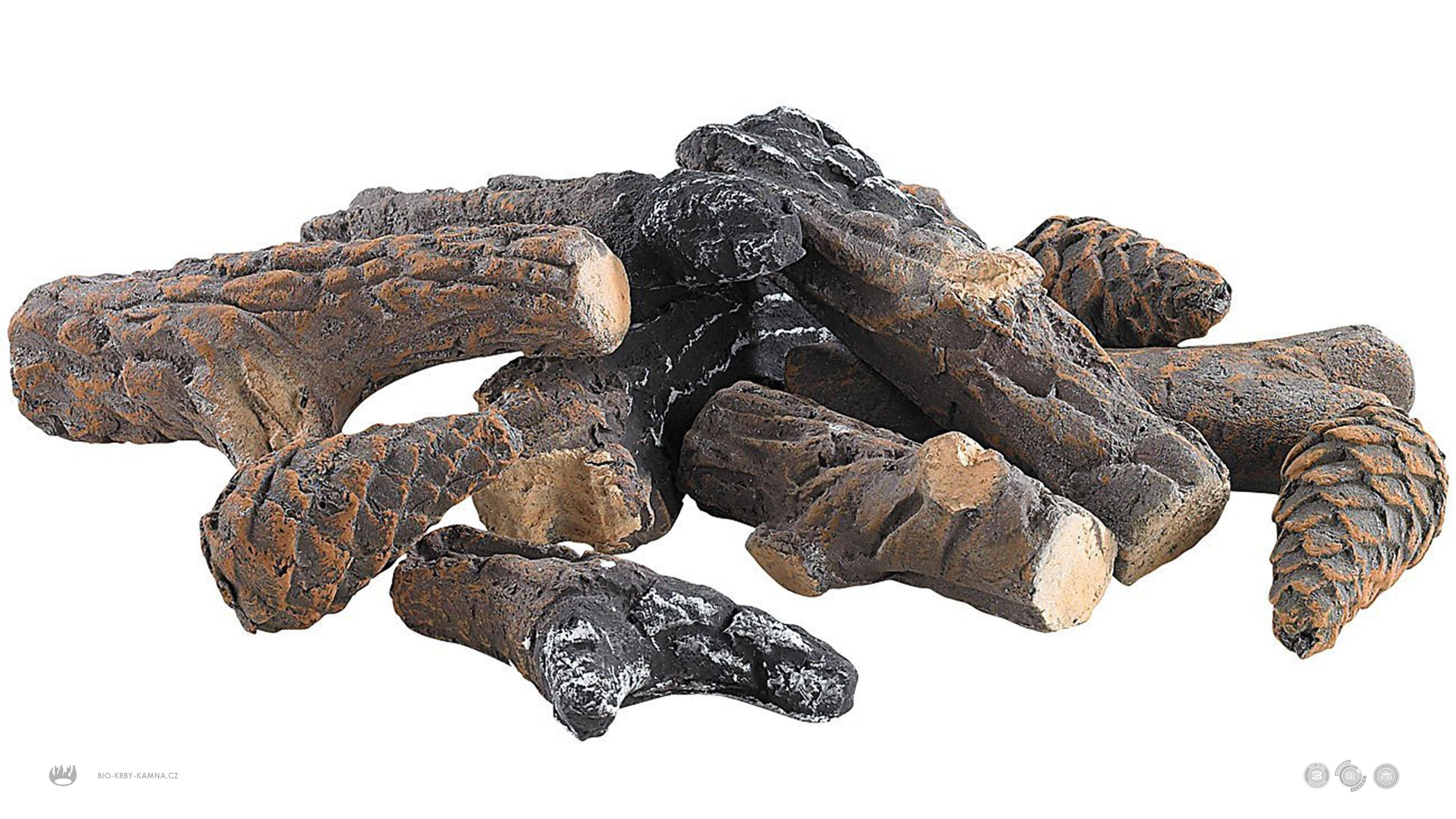Keramické smrekove drevo a šišky