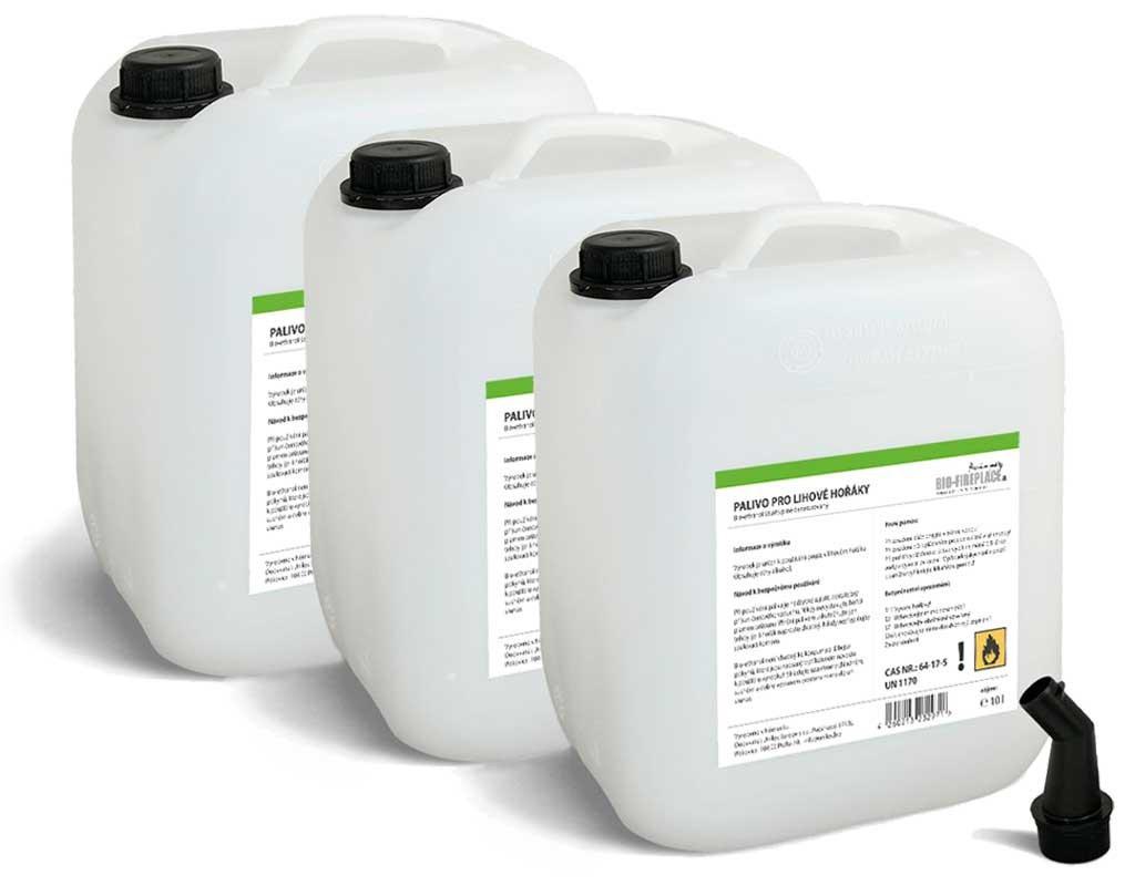 30 л Bioethanol do krbů (Био-этанол, био-алкоголь, Биогель, технический денатурированный спирт)