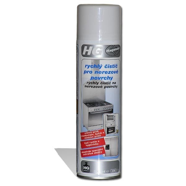 Cleaner for stainless steel surfaces