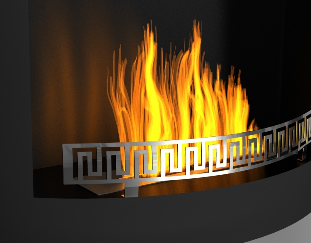 Fireplace without chimney AFR-01B