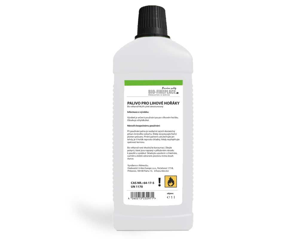 1L Bioethanol do biokrbu (Biolih, Bio Gel, Bio Ethanol, Bioalcohol, Biogel)