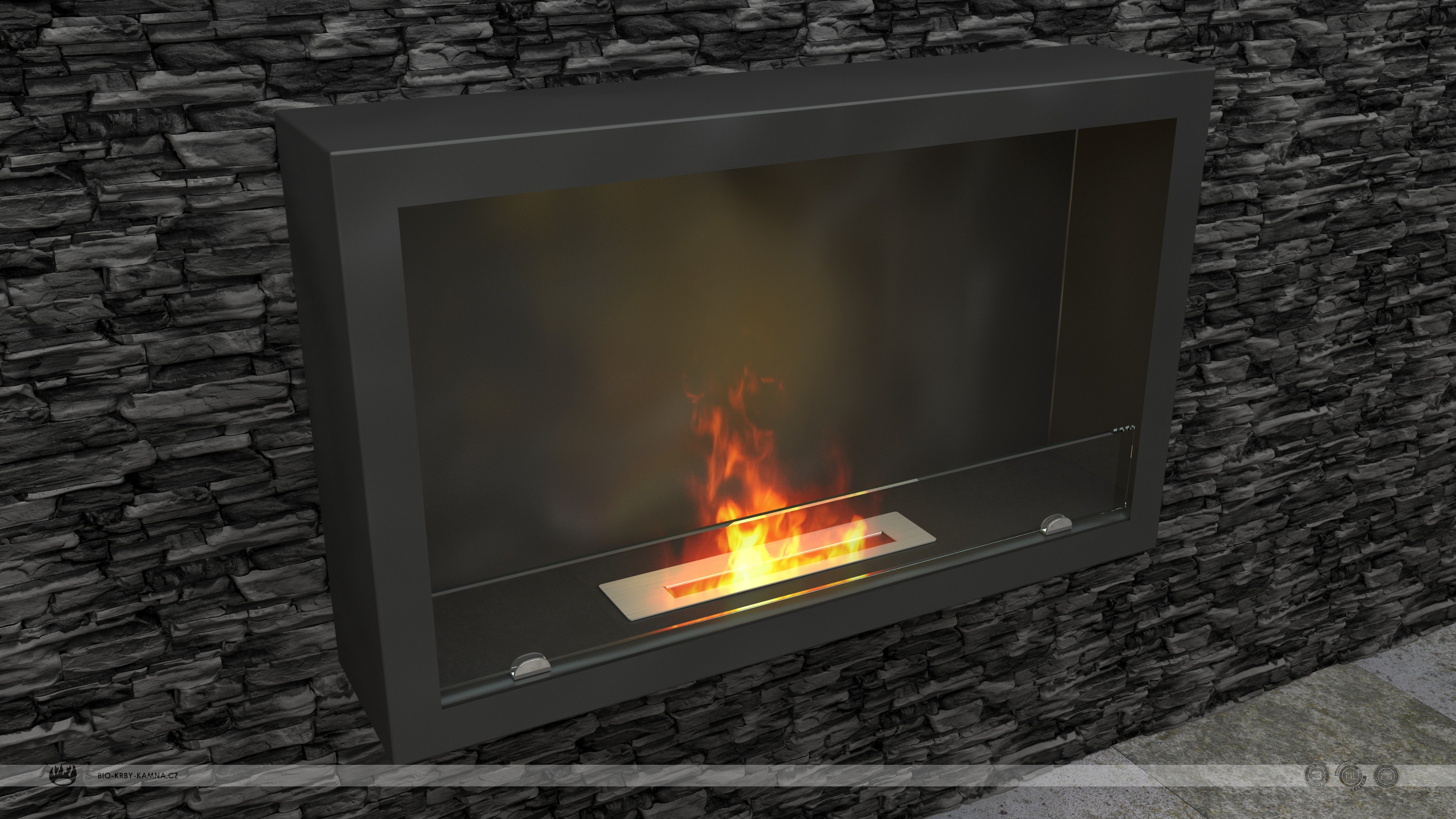 Fireplace without chimney AF-61 + Burner 370