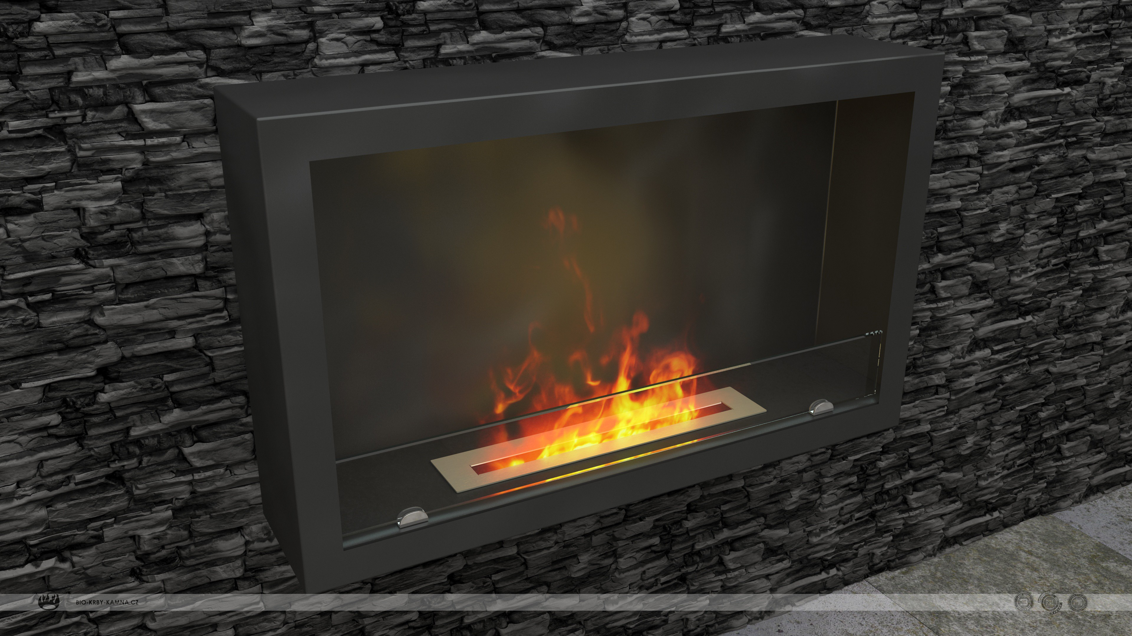 Fireplace without chimney AF-61 + Burner 480