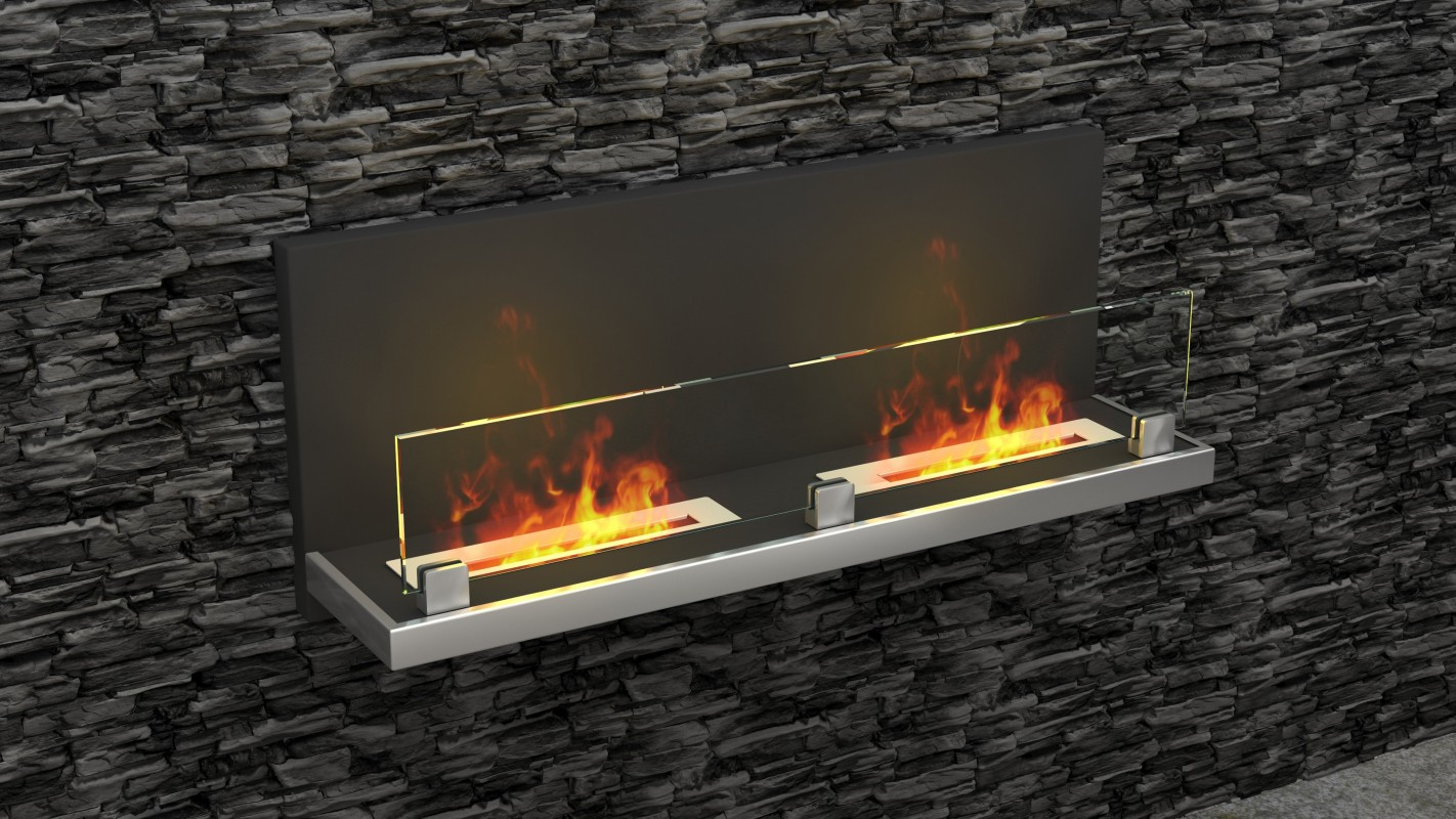 Wall hanging Bio fireplaces without chimney AF-64