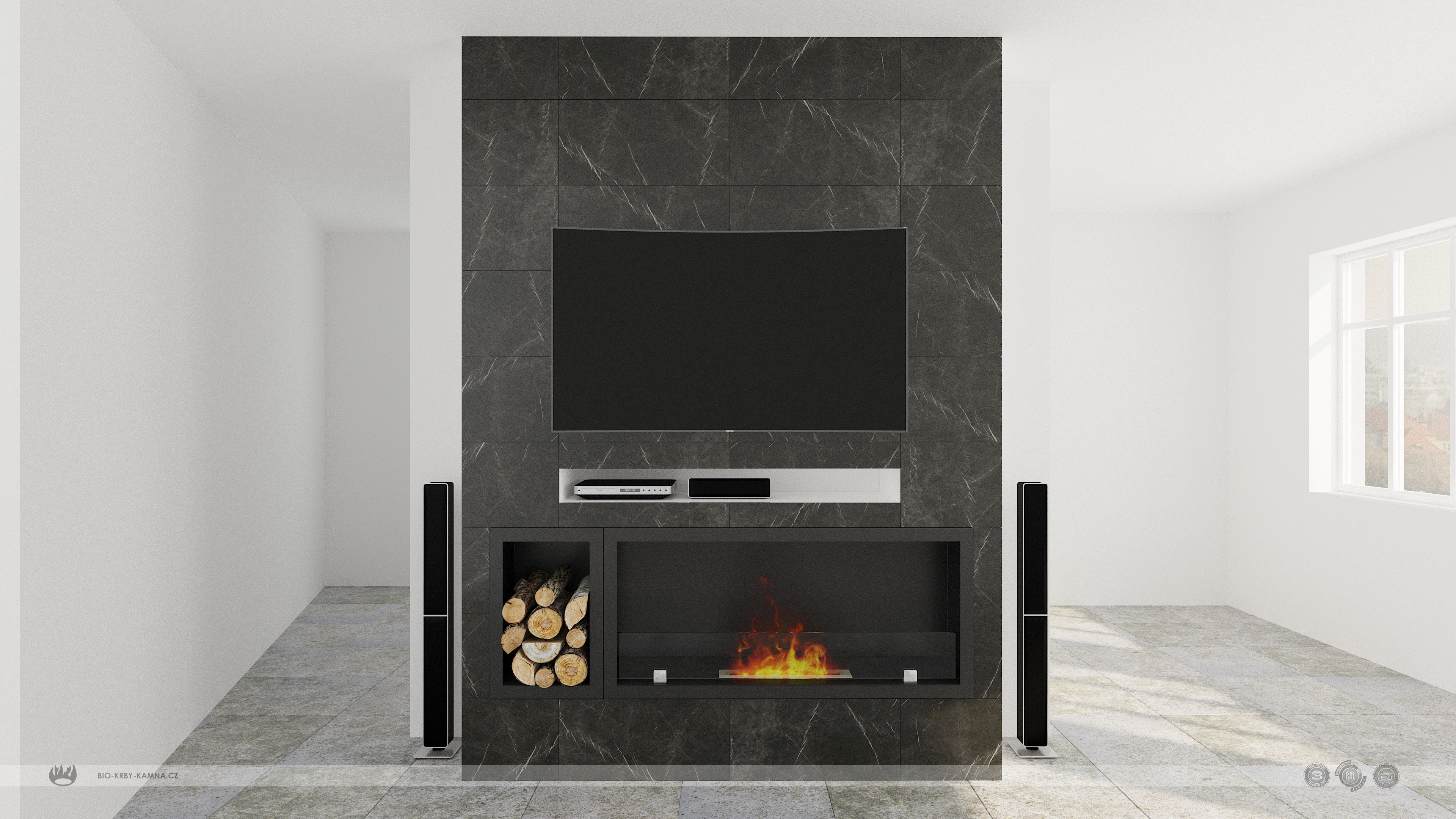 Fireplace without chimney AF-61