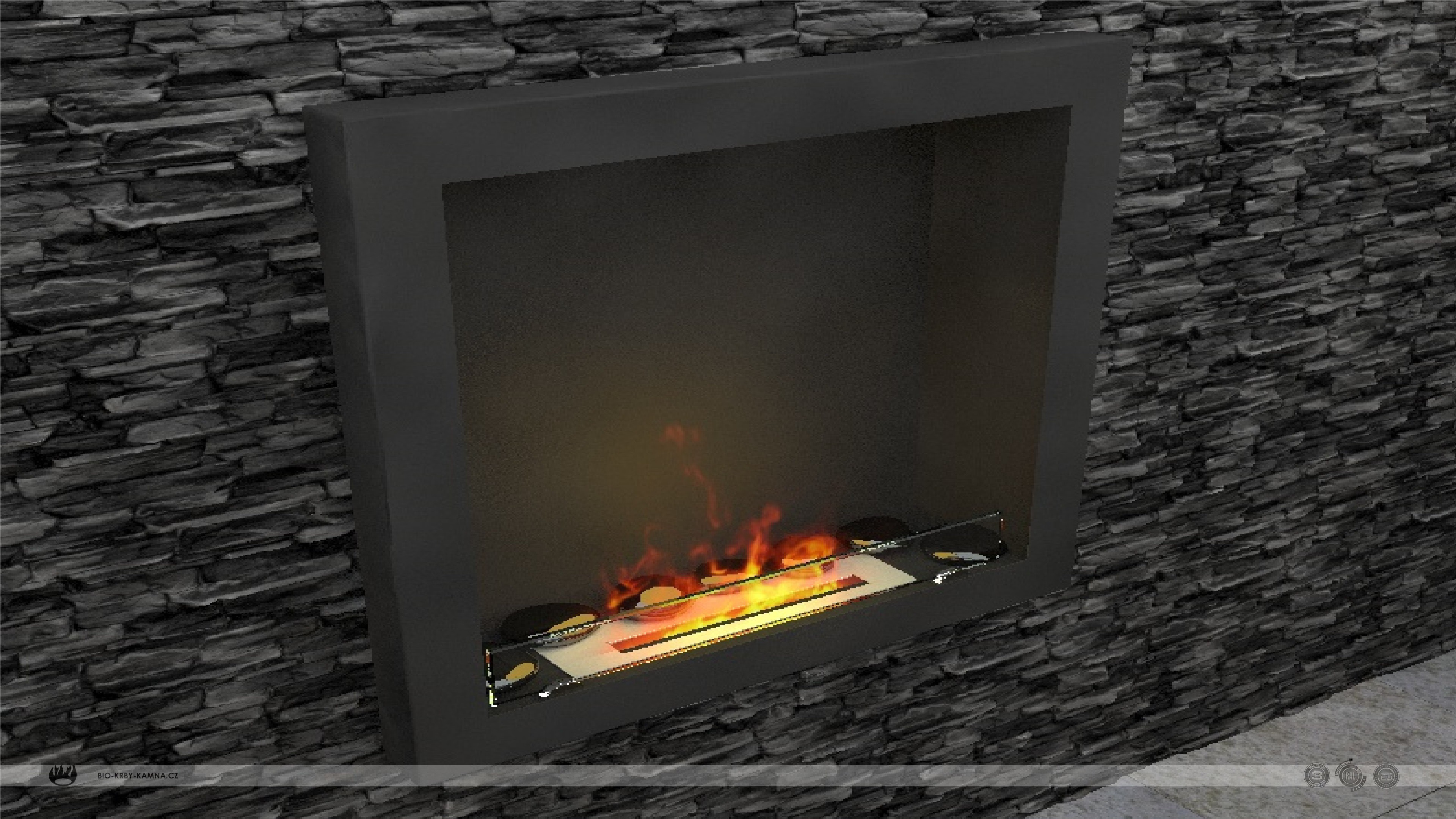 Fireplace without chimney AF-66