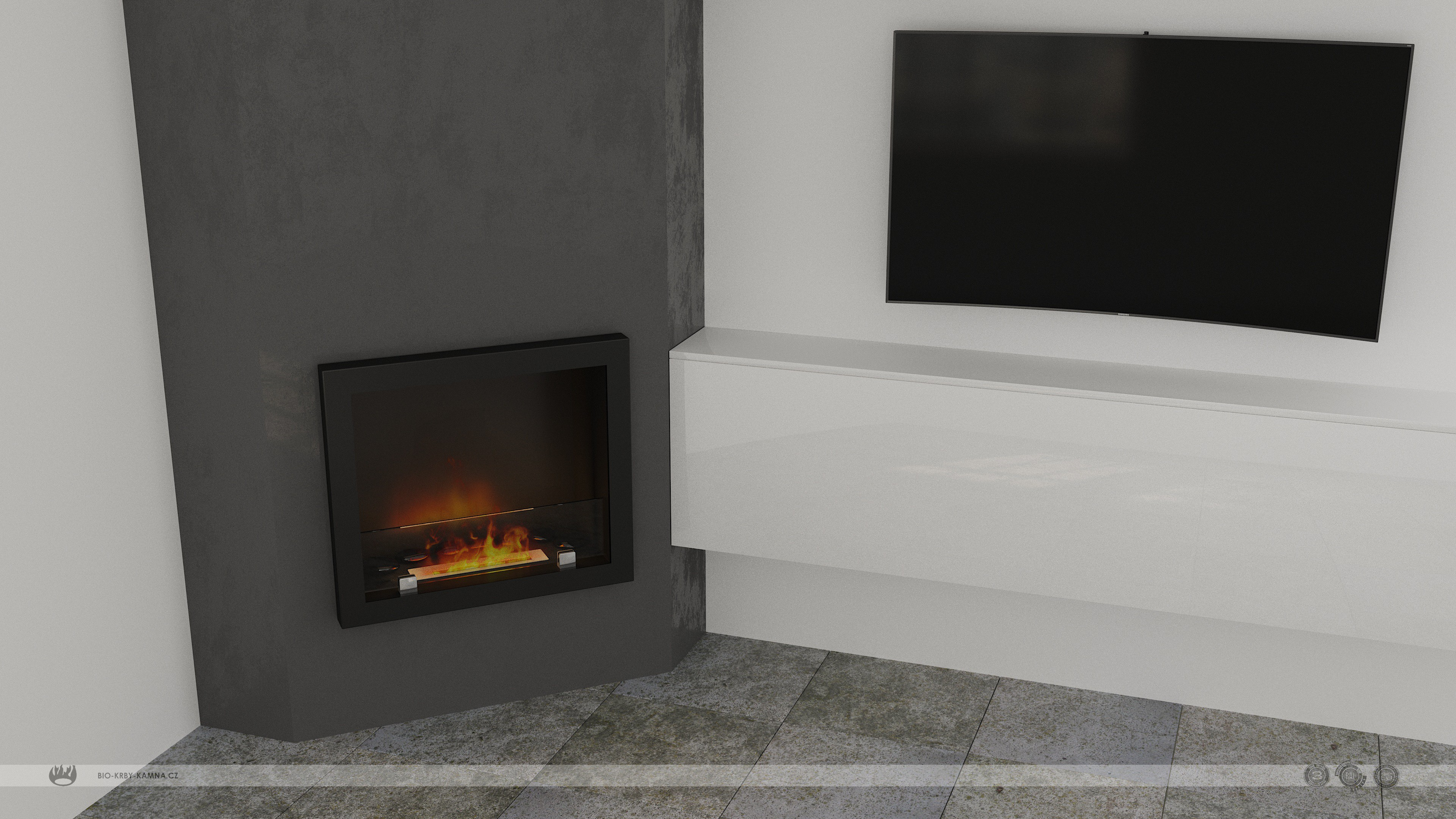 Fireplace without chimney AF-66 v.4