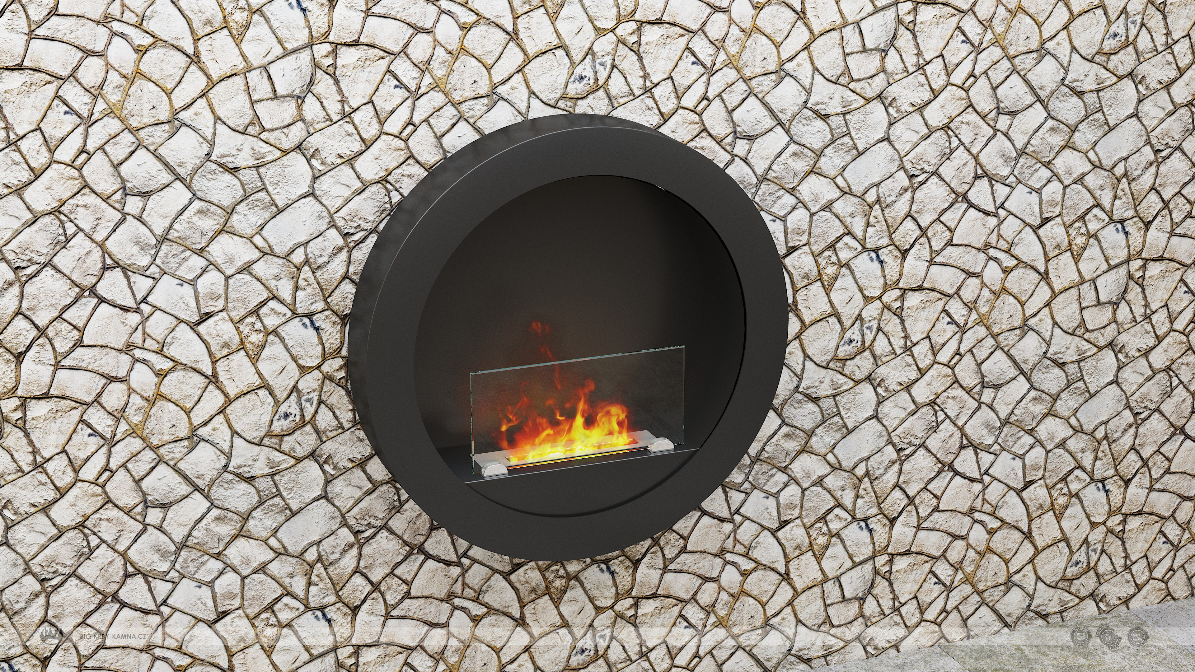 Fireplace without chimney RONDO 2