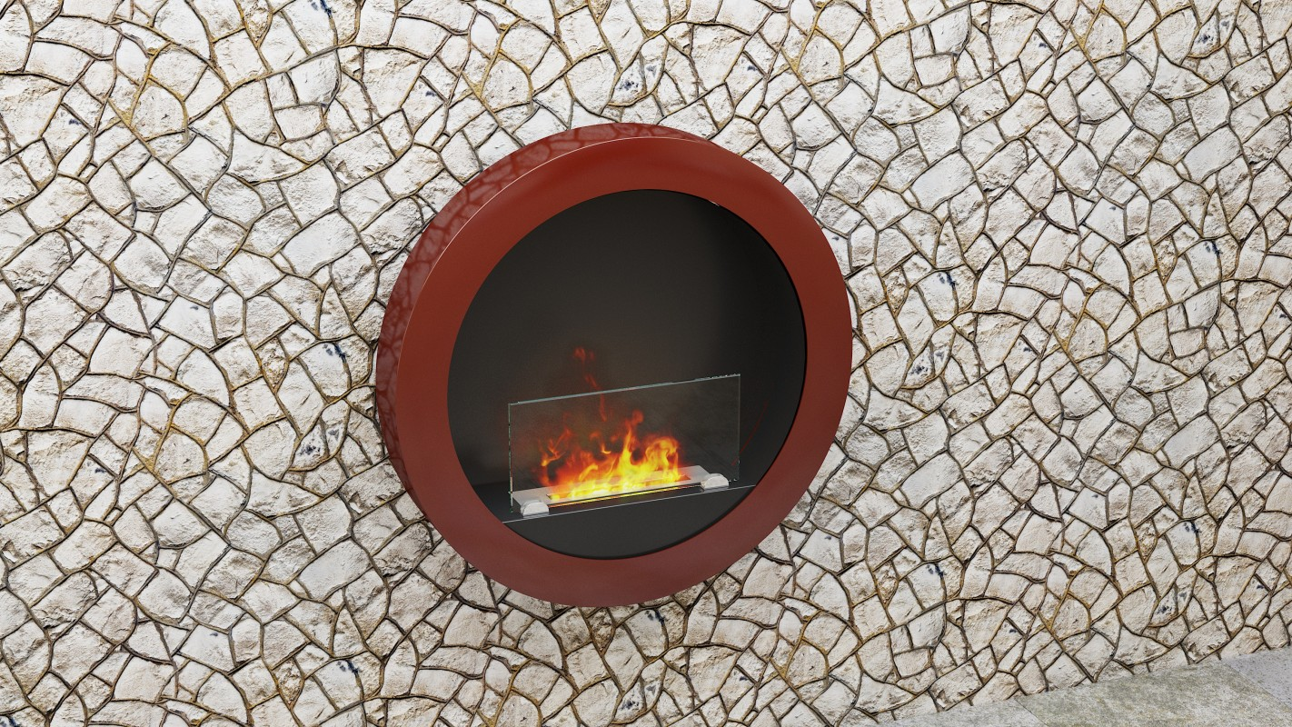 Wall hanging Bio fireplaces without chimney RONDO 2