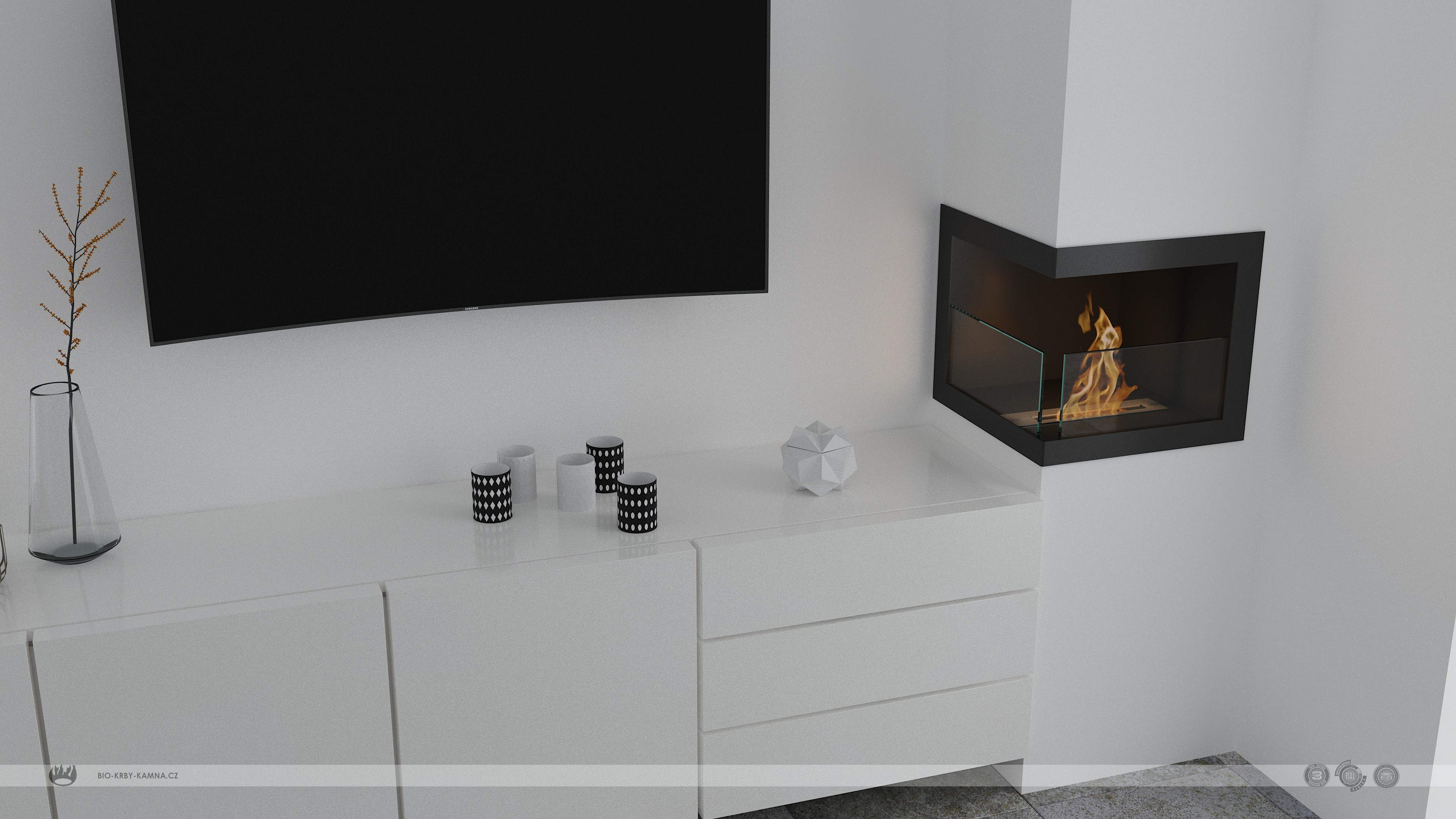 Fireplace without chimney AF-67