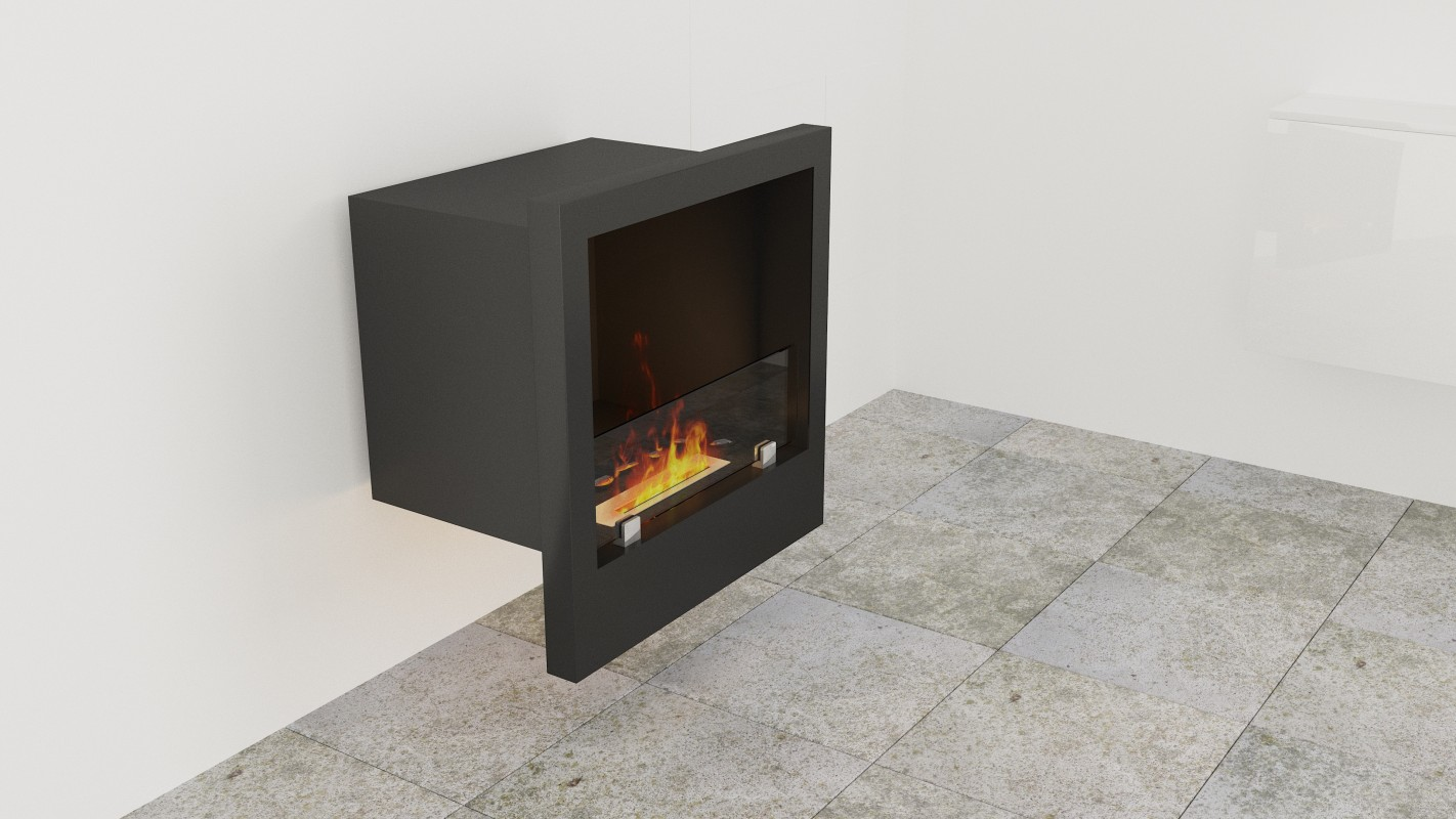 Fireplaces without chimney on bio alcohol without chimney AF-75