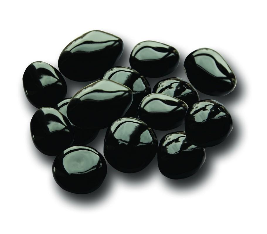 Černé lesklé keramické kameny