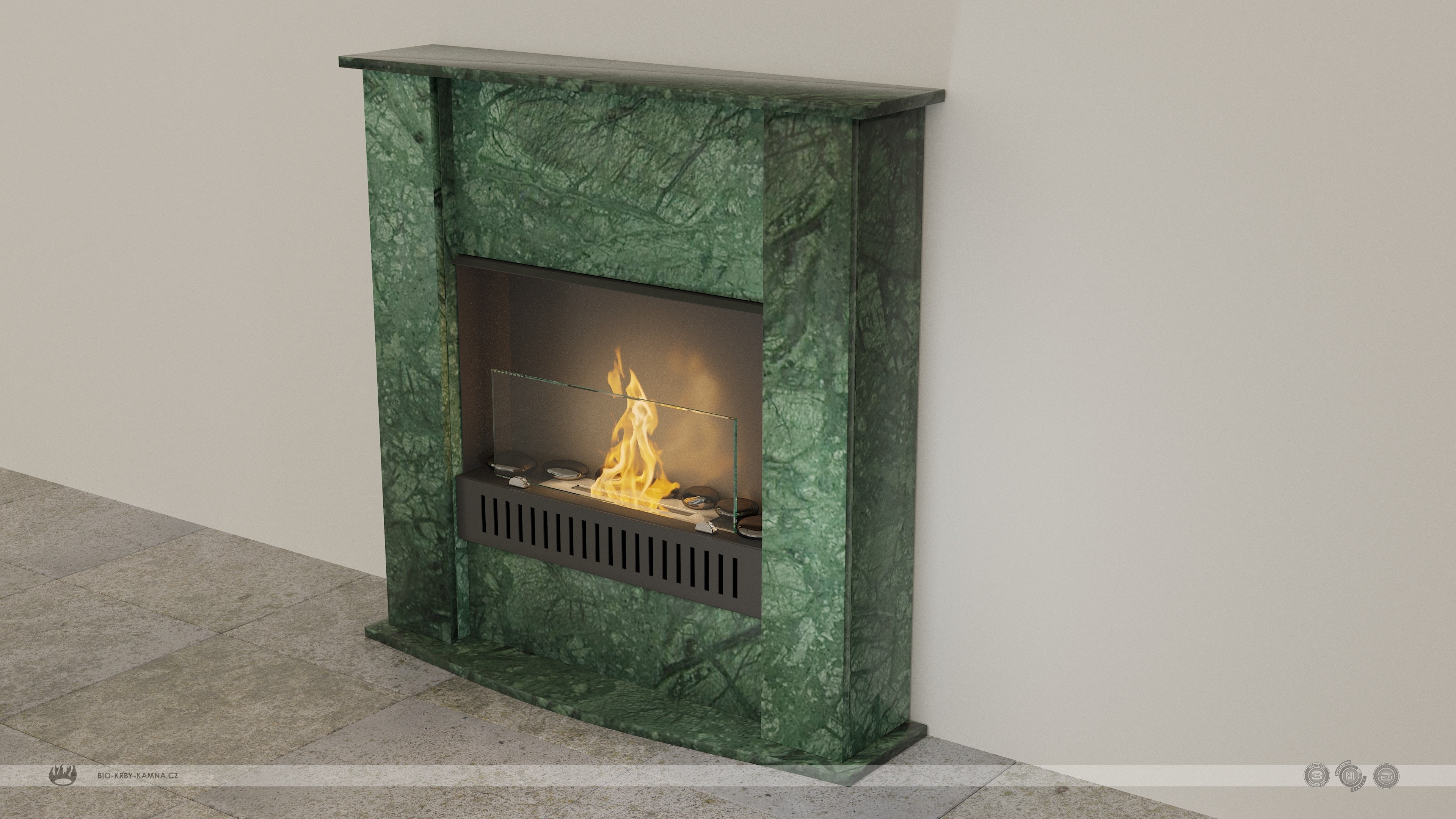 STONE-10 fireplaces without chimney