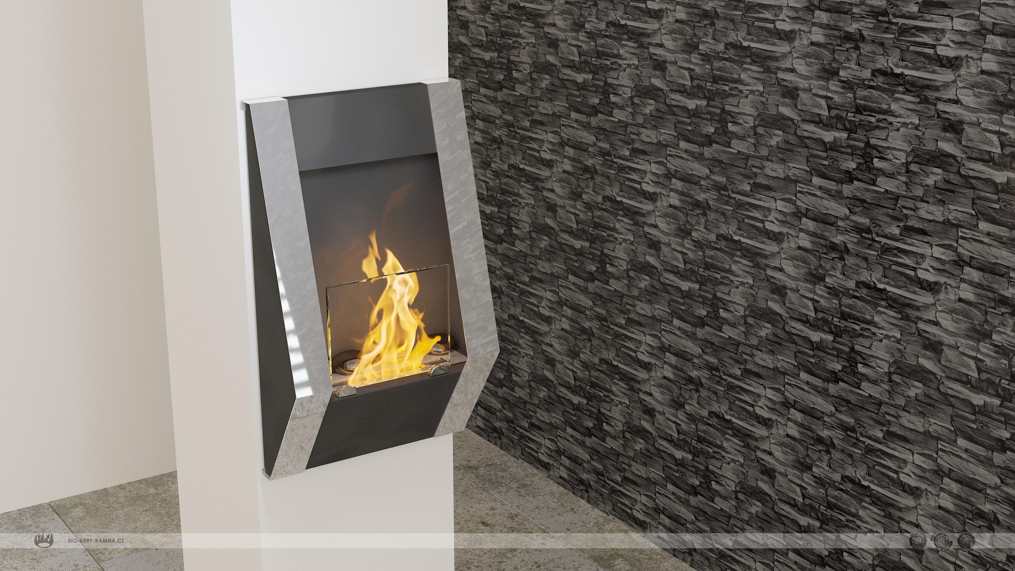Fireplace without chimney BIO-05 Atyp