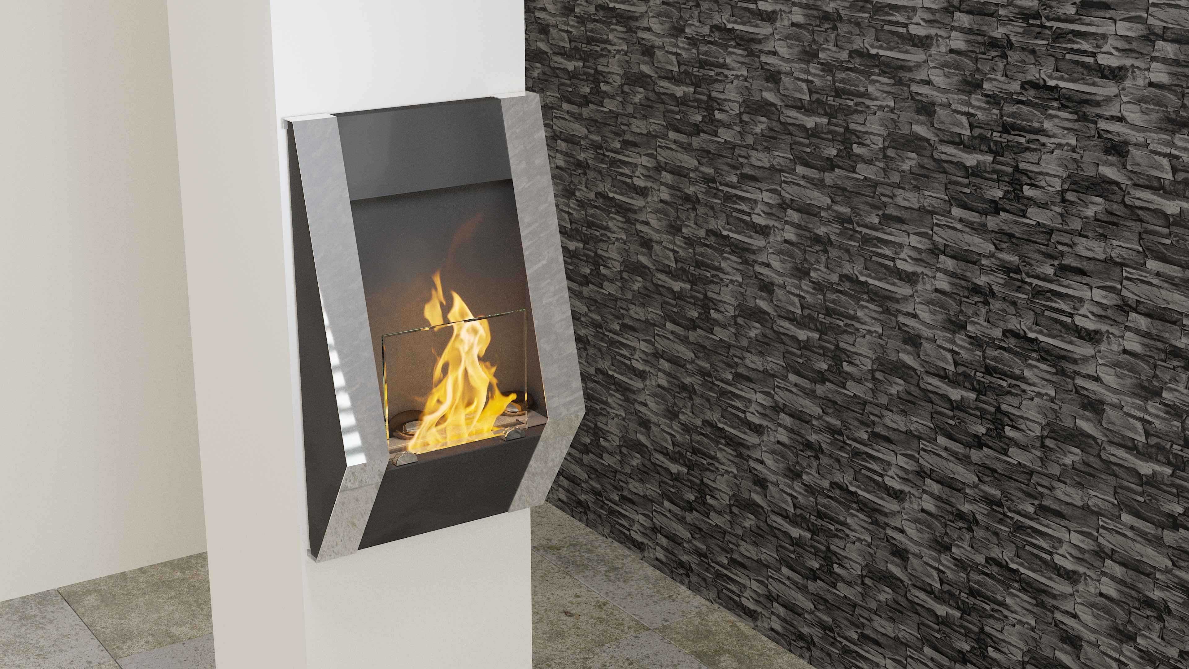 Fireplace without chimney BIO-05 Atyp