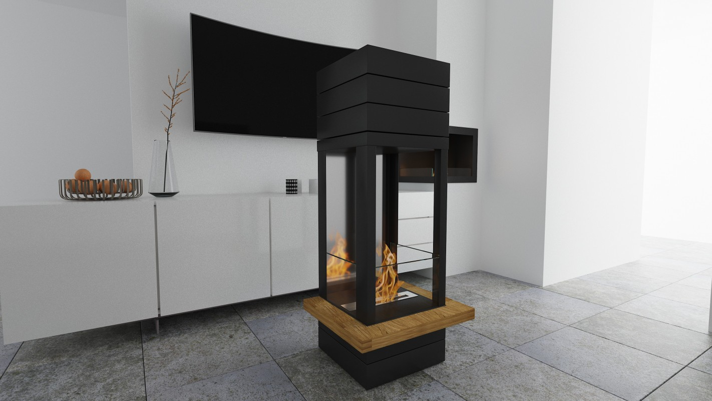 Fireplace without chimney BOHEMA AF-74