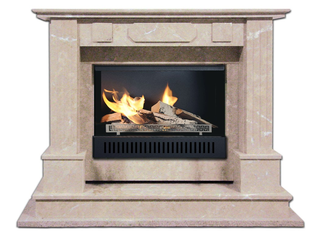 STONE-01 fireplaces without chimney